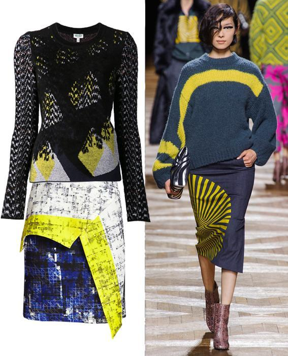 กระโปรง sweater combos: Dries Van Noten