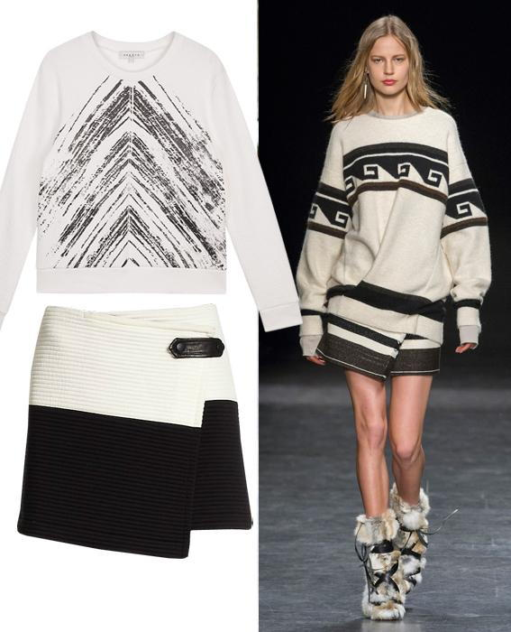 กระโปรง sweater combos: Isabel Marant