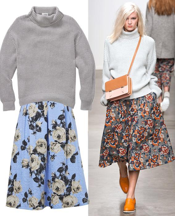 กระโปรง sweater combos: Karen Walker