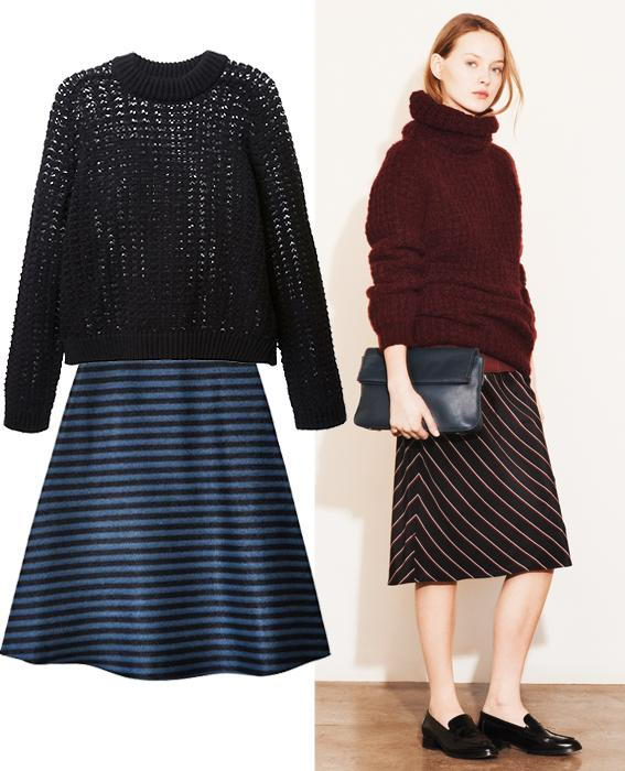 กระโปรง sweater combos: Elizabeth and James