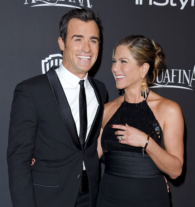 जेनिफर Aniston and Justin Theroux JANUARY 11 2015