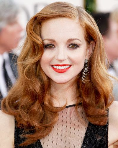Jayma Mays - 25 Stars in Red Lipstick - Red Lips