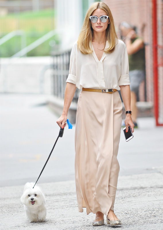Oliva Palermo Walking Her Dog