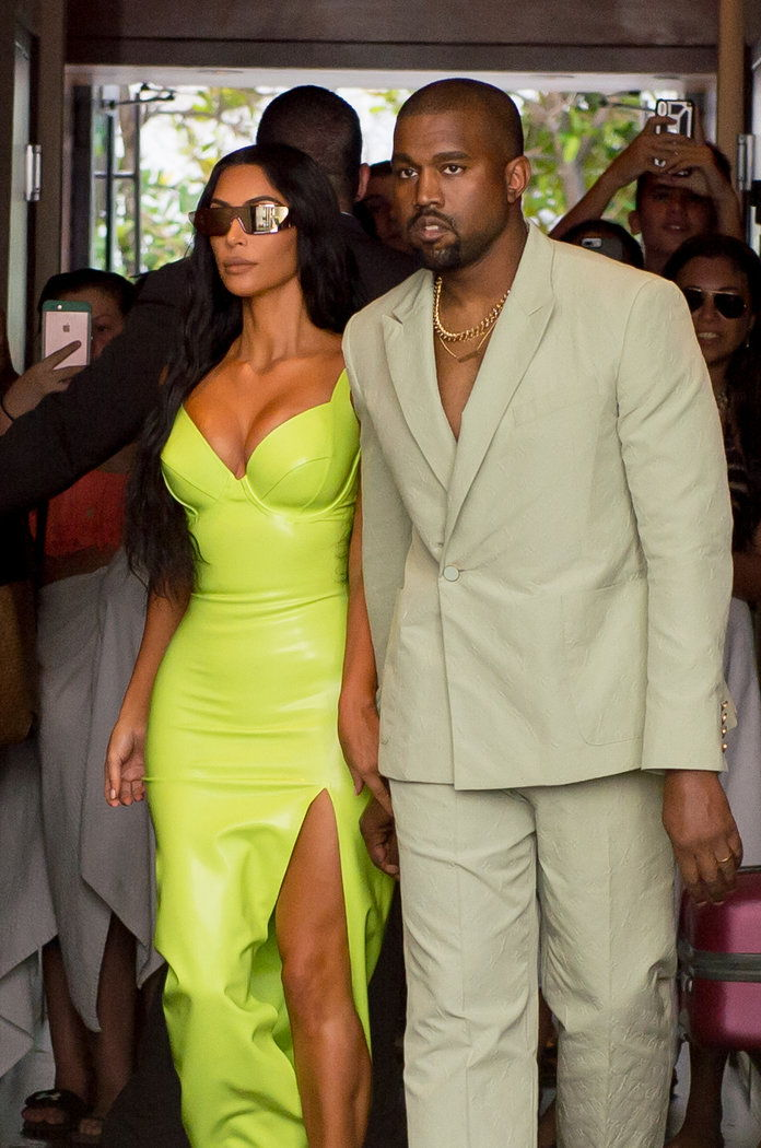 คิม Kardashian and Kanye West