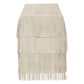 झालरदार suede and stretch-modal skirt