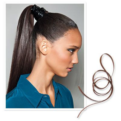 एमजे Trim Leather - 10 Ways to Style Hair Quickly