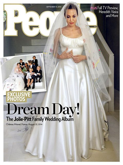 แองเจลิ Jolie Brad Pitt wedding People cover