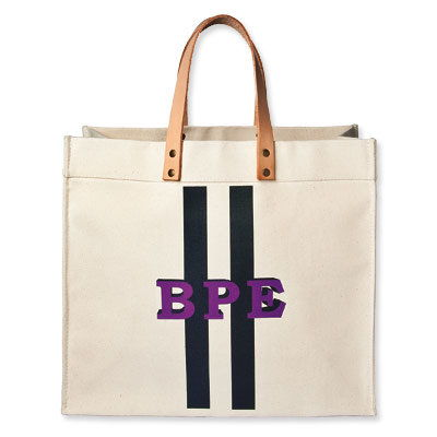 Iomoi Canvas Tote - Monogrammed tote - hostess gifts