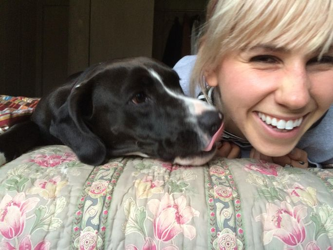 Zosia Mamet and Moose