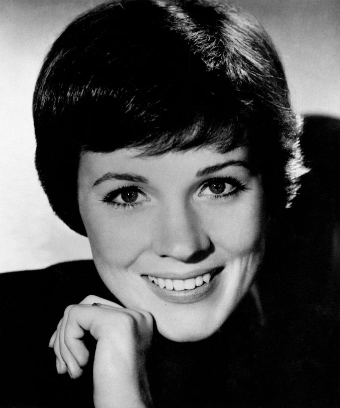close up of Julie Andrews