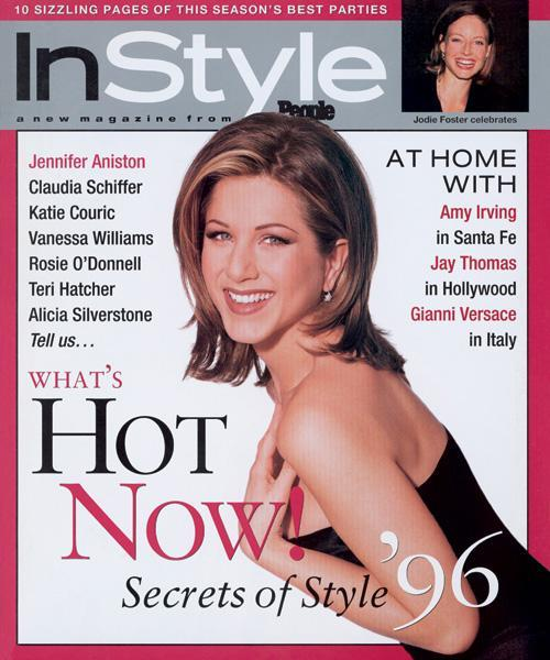 InStyle Covers - January 1996, Jennifer Aniston