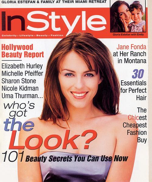 InStyle Covers - October 1996, Elizabeth Hurley