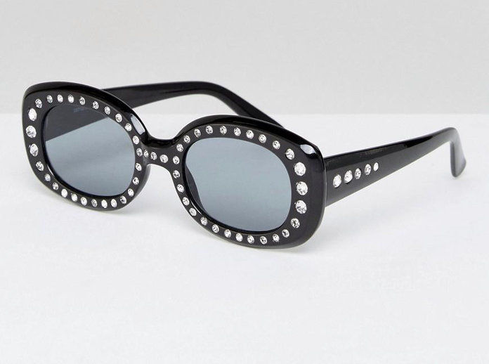ASOS 90's Square Embellished Sunglasses