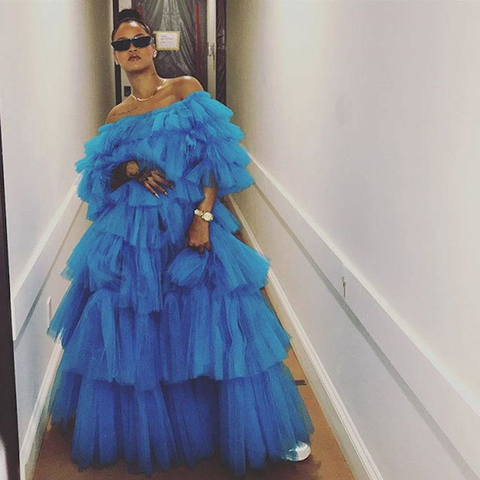 Rihanna Blue Dress 2