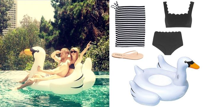 ใด Celebrity on a Swan Floatie