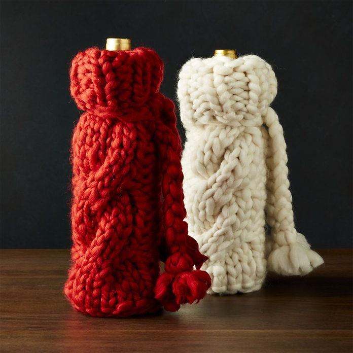 COZY KNIT WINE BAG