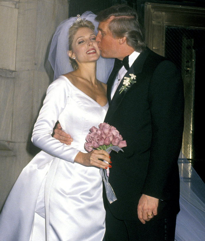 मरला Maples and Donald Trump during The Wedding of the Year: Mr. Trump Takes Another Gamble at Plaza Hotel in New York City, New York, United States. (Photo by Ron Galella/WireImage)