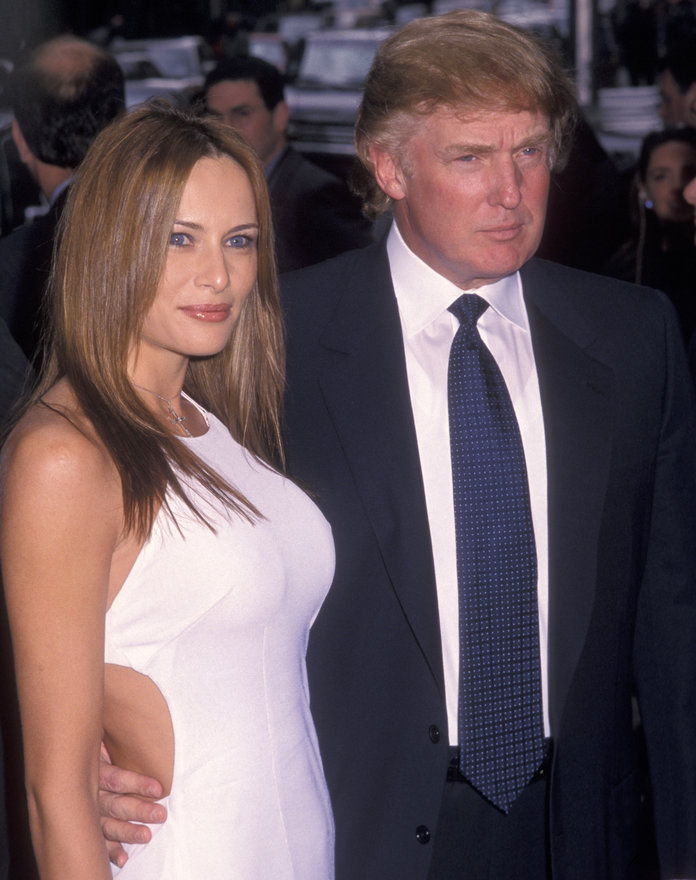 नया YORK CITY - MAY 16: Donald Trump and Melania Trump attend