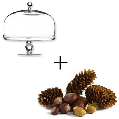 केक Stand - Acorns and Pine cones - Holiday decorations
