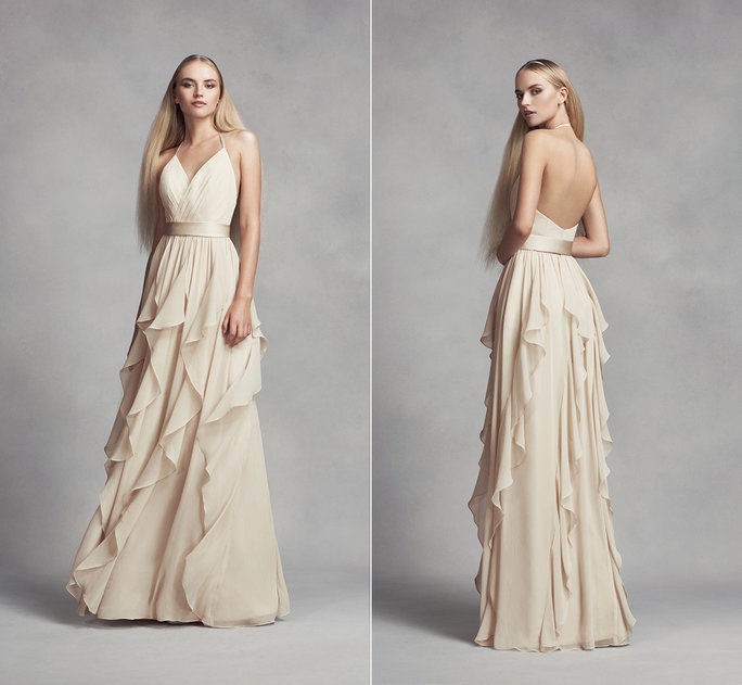 सफेद By Vera Wang Bridesmdaid Dress