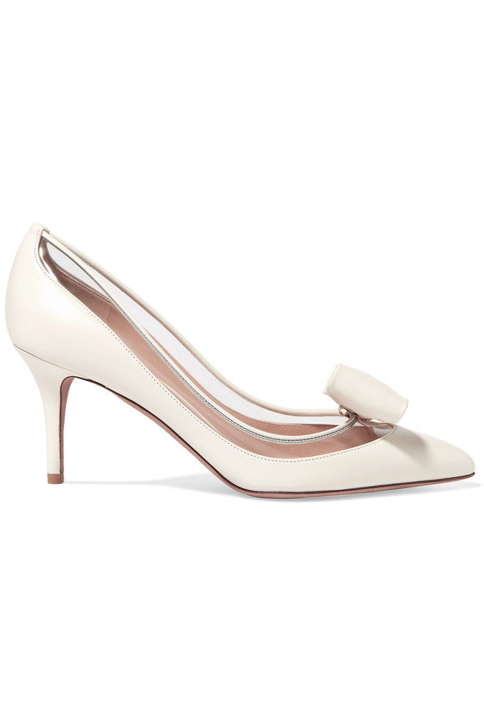 Glassglow PVC-Trimmed Leather Pumps