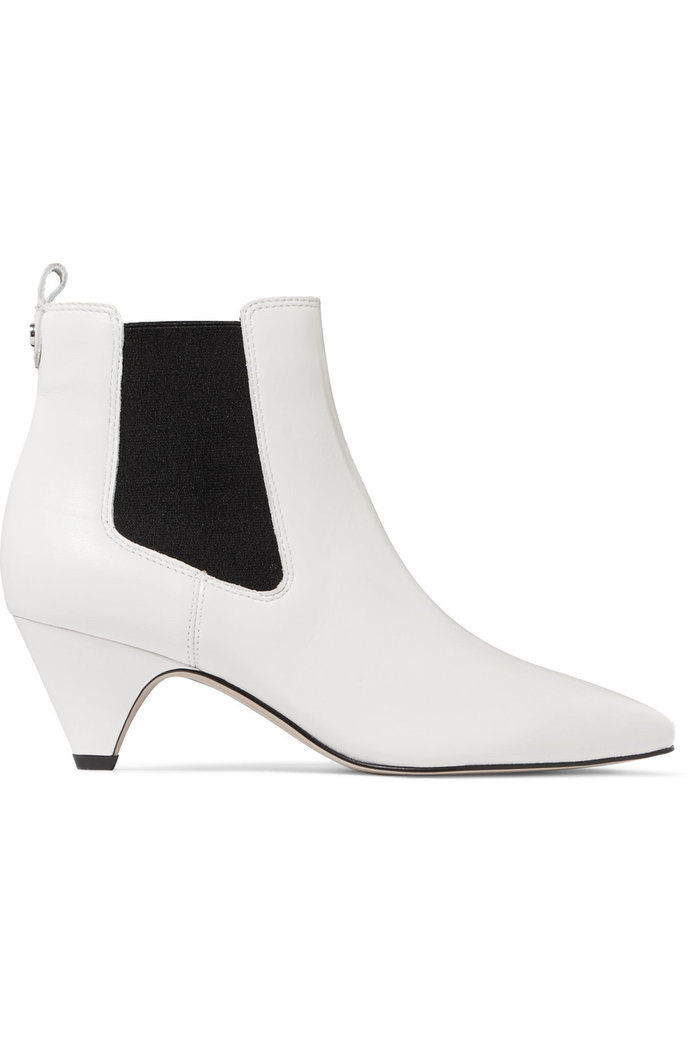 चमड़ा Ankle Boots