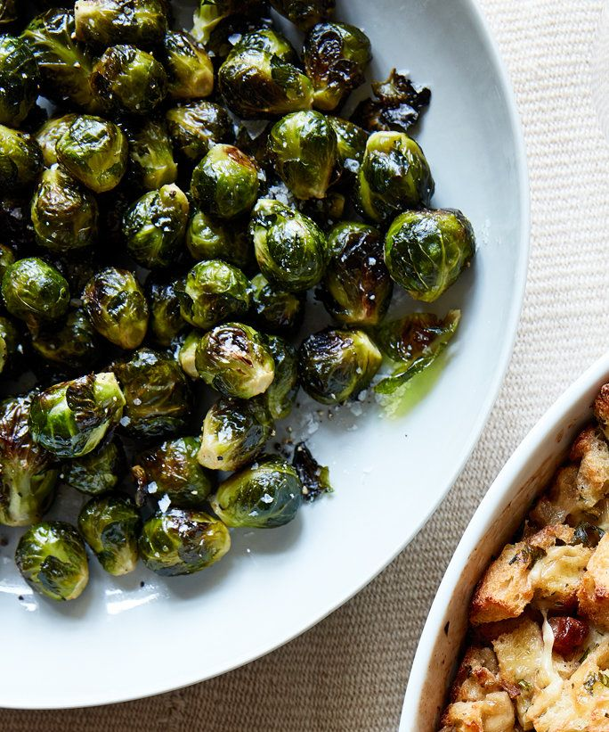 भुना हुआ Brussels Sprouts