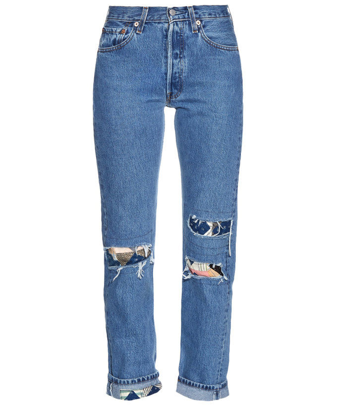 परमानंद and Mischief Patchwork Jeans