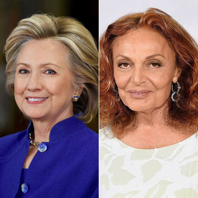 ฮิลลารี Clinton and Diane von Furstenberg