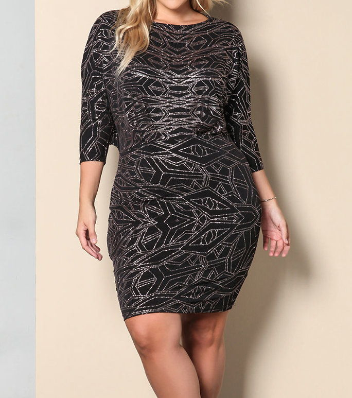DebShop के Sparkle Cut Out Bodycon