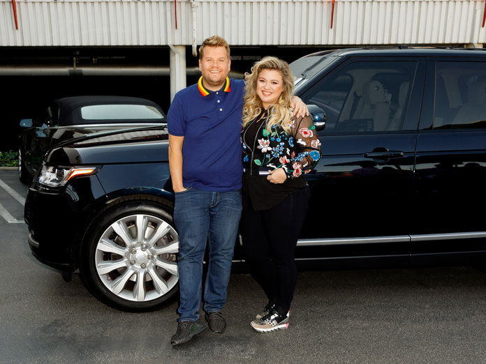 เจมส์ Corden and Kelly Clarkson