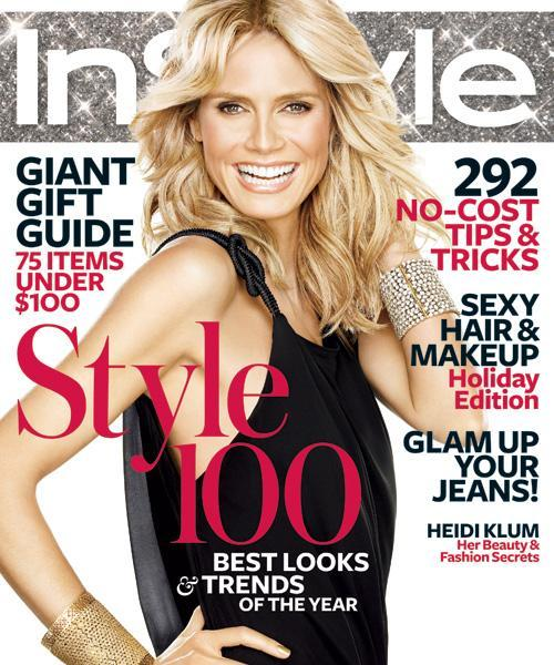 InStyle Covers - December 2008, Heidi Klum