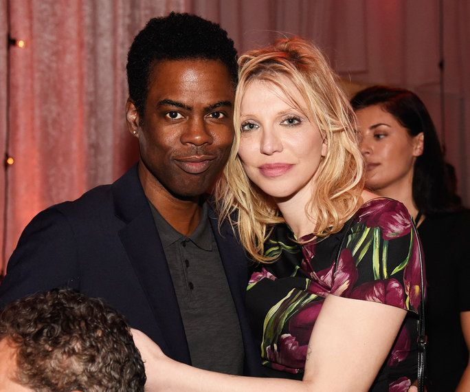 क्रिस Rock and Courtney Love