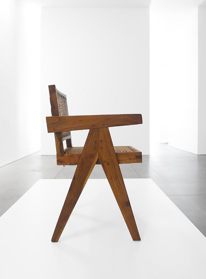 विंटेज Teak Conference Chair by Pierre Jeanneret for Chandigarh