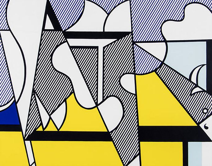 रॉय Lichtenstein Abstract Pop Art Stamped Editorial Archive Print