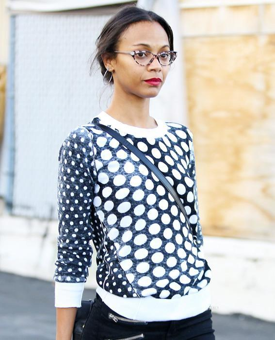 เซเลบ in Glasses: Zoe Saldana