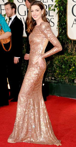 แอนน์ Hathaway - The Best Golden Globes Gowns of All Time - Armani Prive