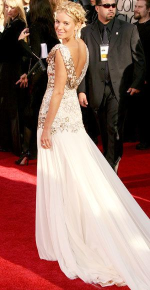 สีน้ำตาล Miller - The Best Golden Globes Gowns of All Time - Marchesa