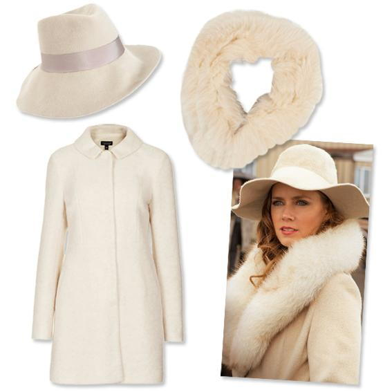 เอมี่ Adams: Floppy Wool Hat + Coat