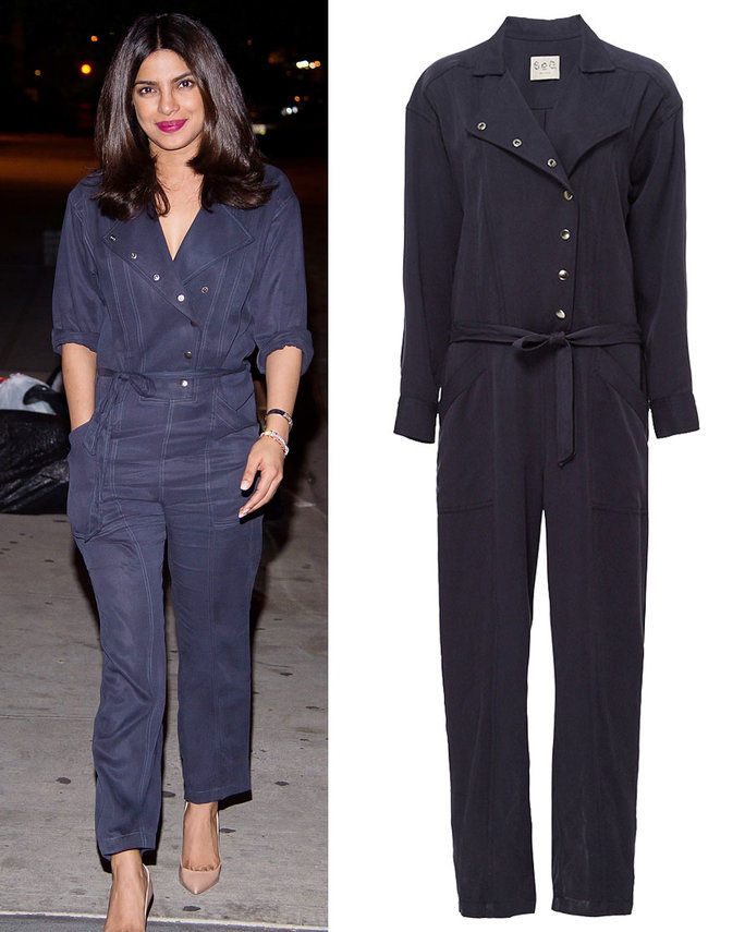 प्रियंका Chopra in Sea New York jumpsuit