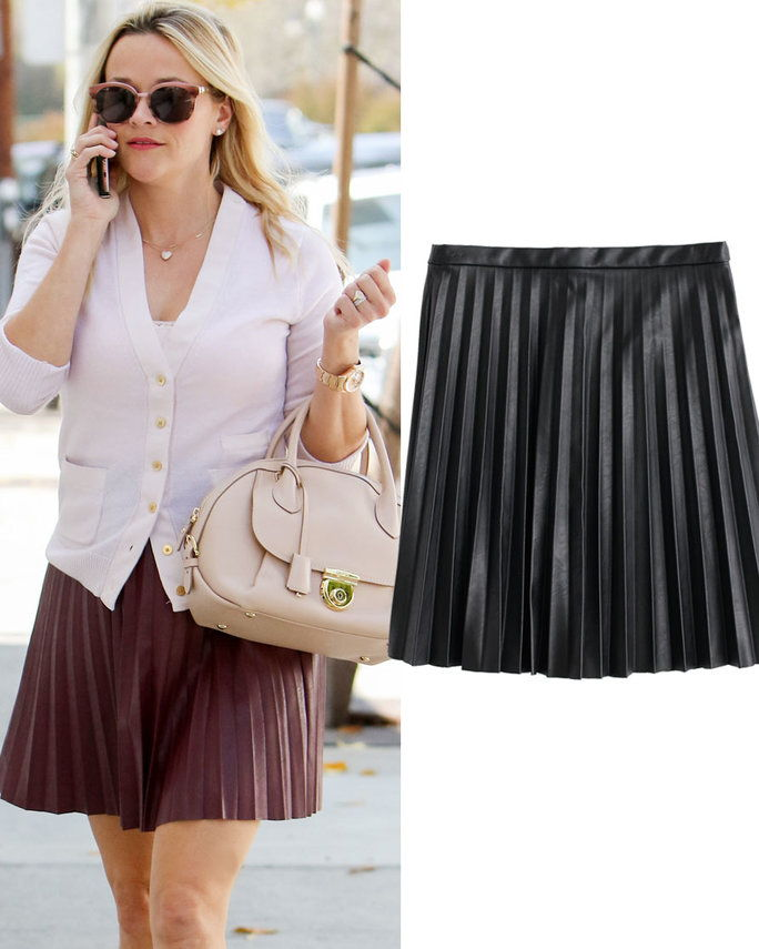 रीज़ Witherspoon in J. Crew skirt