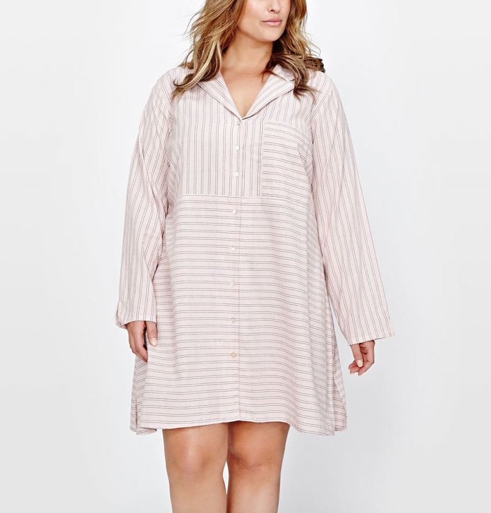 लंबा Sleeve Shirtdress by Addition Elle