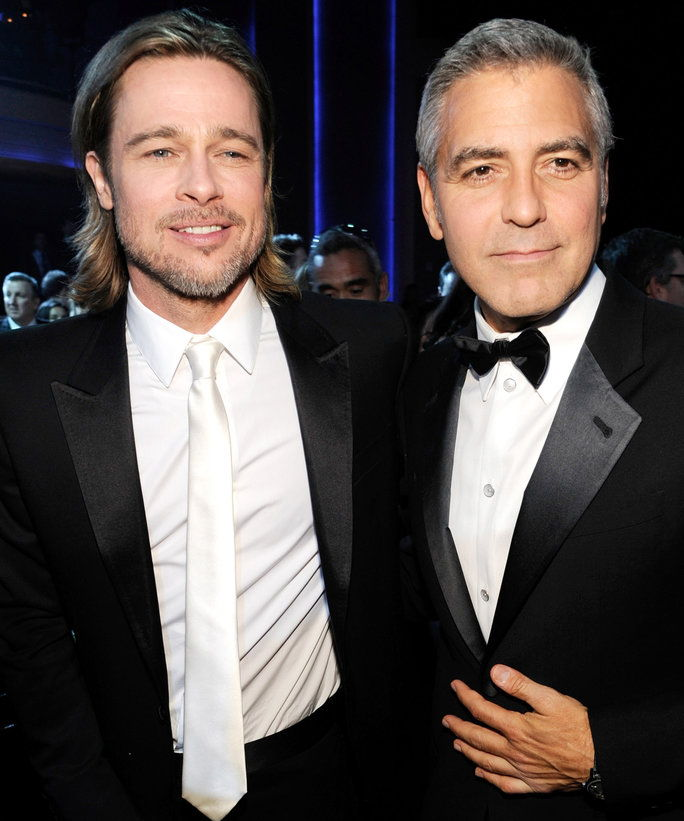 चपटी कील Pitt and George Clooney