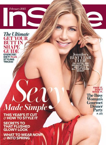 जेनिफर Aniston February 2015 InStyle Cover