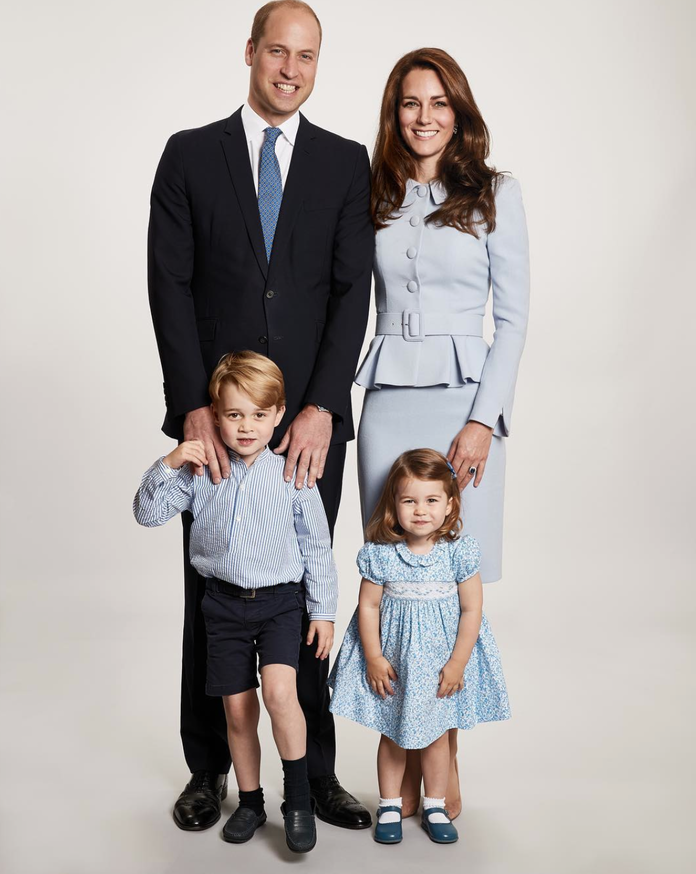 Duke and Duchess of Cambridge, Prince George, and Princess Charlotte, 2017