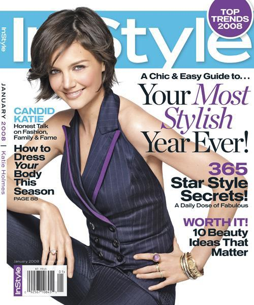 InStyle Covers - January 2008, Katie Holmes