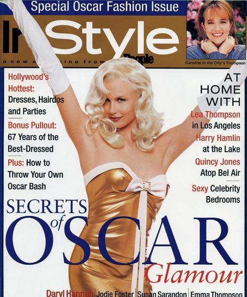 InStyle Covers - April 1996, Daryl Hannah