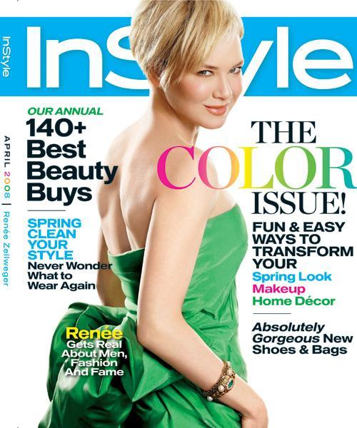 InStyle Covers - April 2008, Renee Zellweger