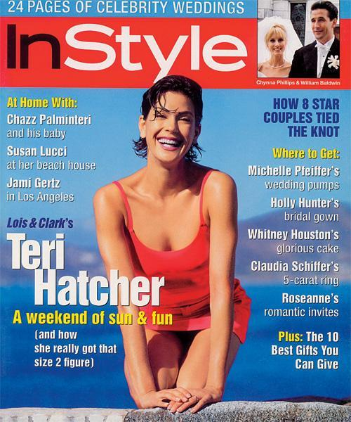 InStyle Covers - May 1996, Teri Hatcher