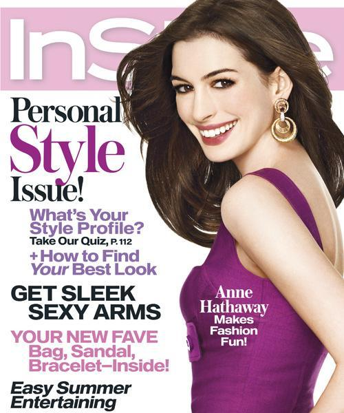 InStyle Covers - July 2008, Anne Hathaway